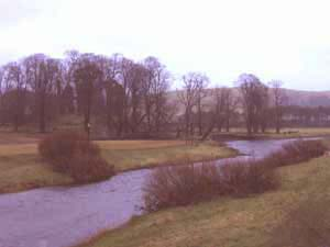 The Clyde at Crawford looking towards Crawford Castle