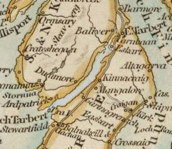 Map of Kilcalmonnell