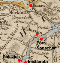 Map of Kilchrenan