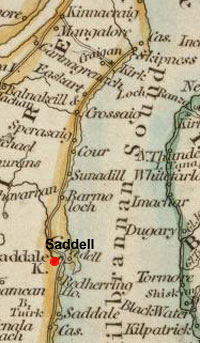 Map of Saddell and Skipness