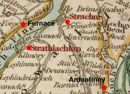 Map of Strachur and Stralachlan